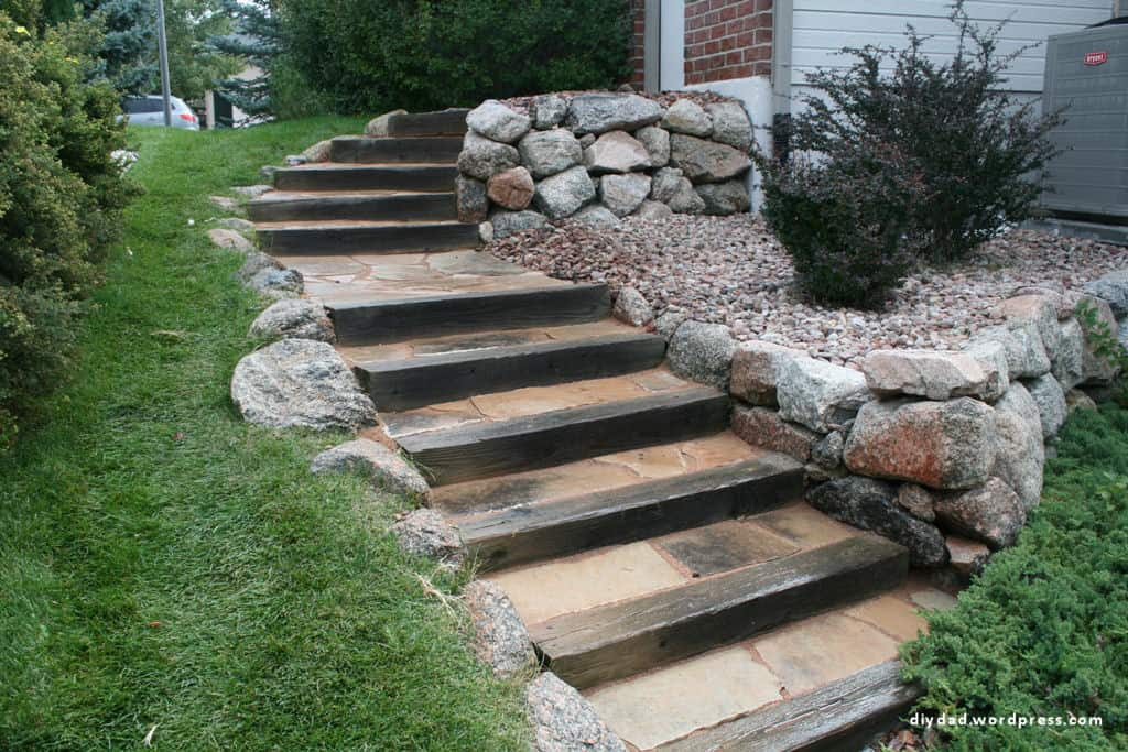 Do Not Forget Flagstone Stairs
